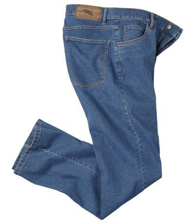 Men's Regular Fit Stretch Blue Jeans