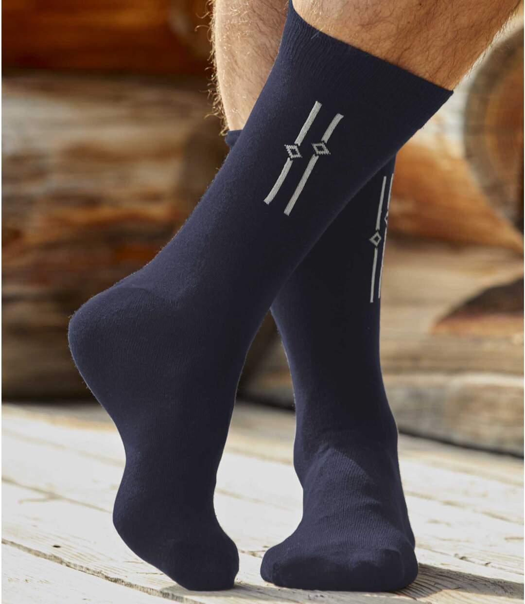 5 Paar Socken mit Jacquard-Muster