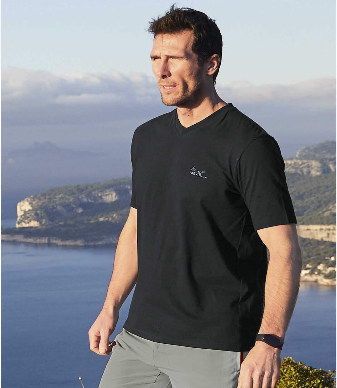 Zestaw 4 t-shirtów z dekoltem w serek Hampton Beach