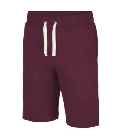 AWDis Hoods Plain Heavyweight Campus Shorts (Burgundy) - UTRW2549