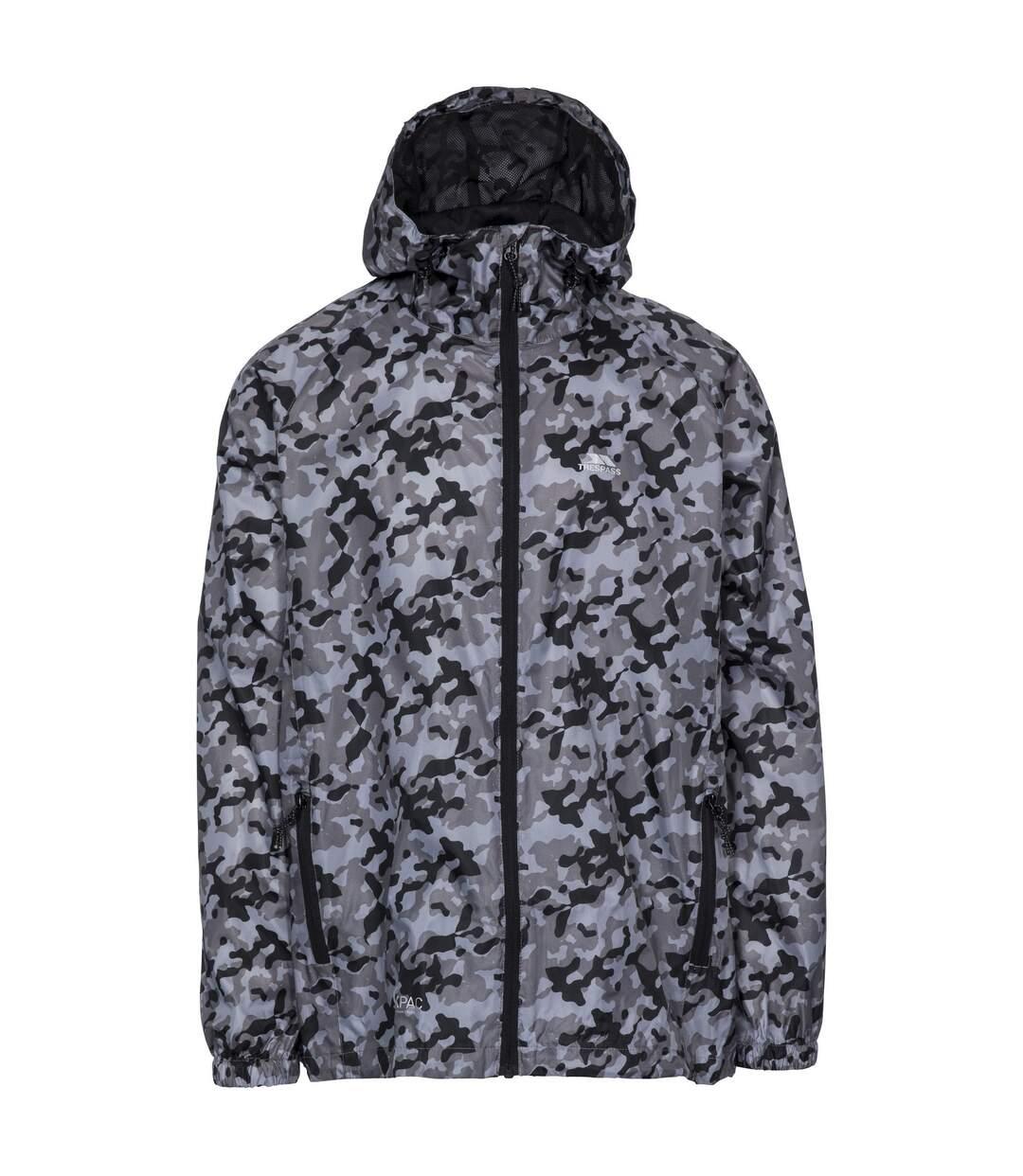 Trespass Qikpac Printed Packaway Waterproof Jacket (Grey Camo) - UTTP4324