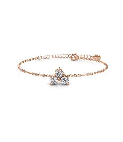 Bracelet Troika - Or Rosé et Cristal