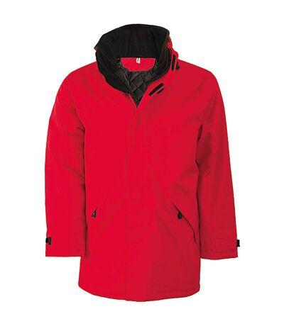 Kariban Mens Parka Performance Jacket (Red/Black) - UTRW731