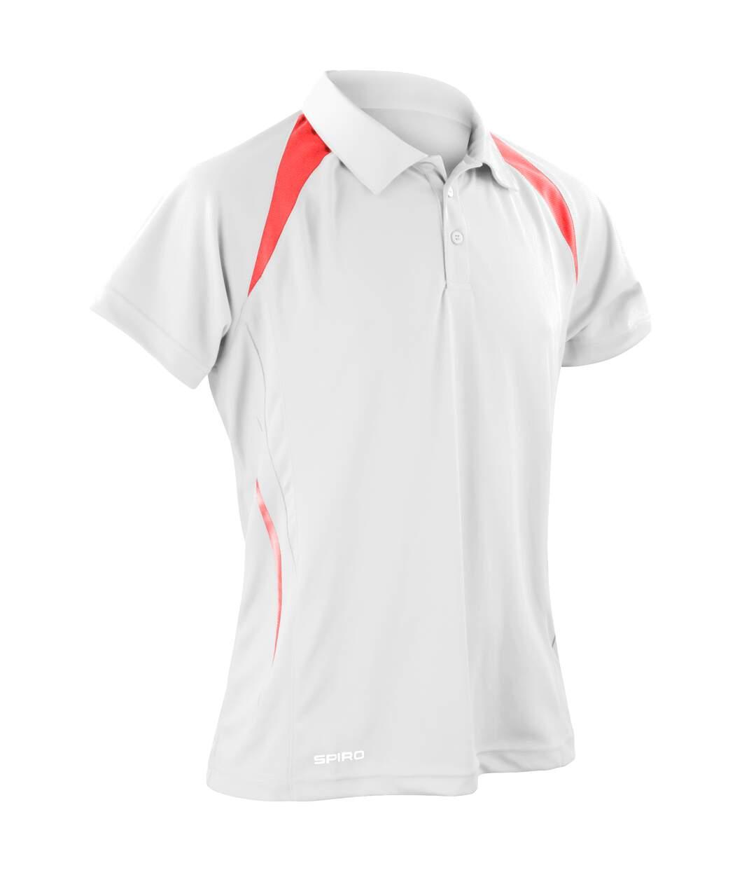 Spiro Mens Sports Team Spirit Performance Polo Shirt (Black/White) - UTRW1470