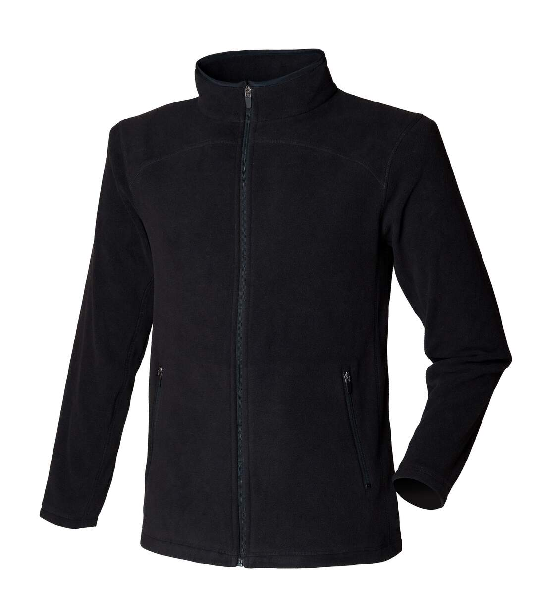 Skinni Fit Mens Microfleece Anti Pill Lightweight Jacket (Black) - UTRW1397