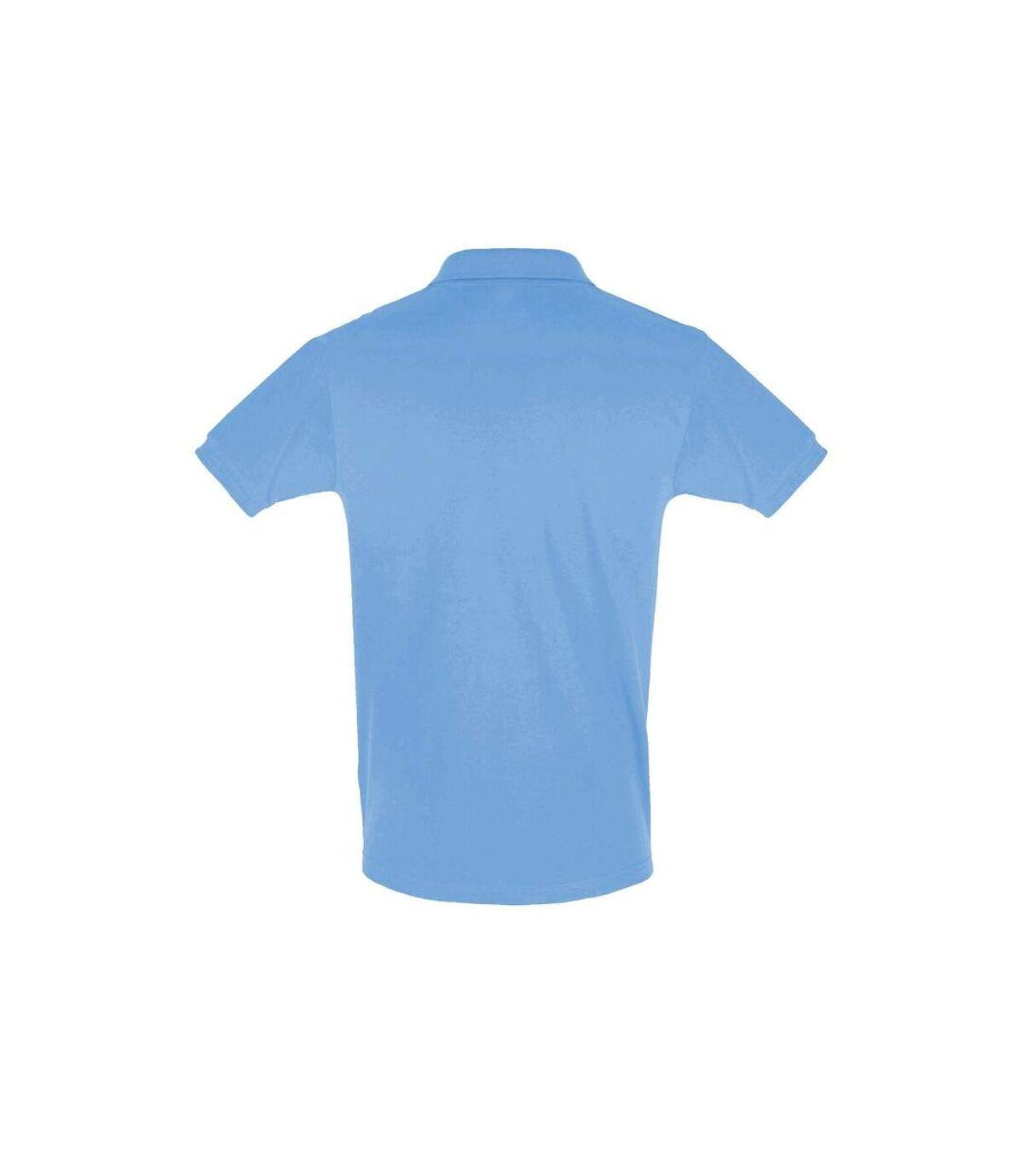 SOLS Mens Perfect Pique Short Sleeve Polo Shirt (Sky Blue) - UTPC283