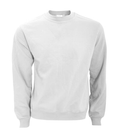 B&C Mens Crew Neck Sweatshirt Top (White) - UTBC1297