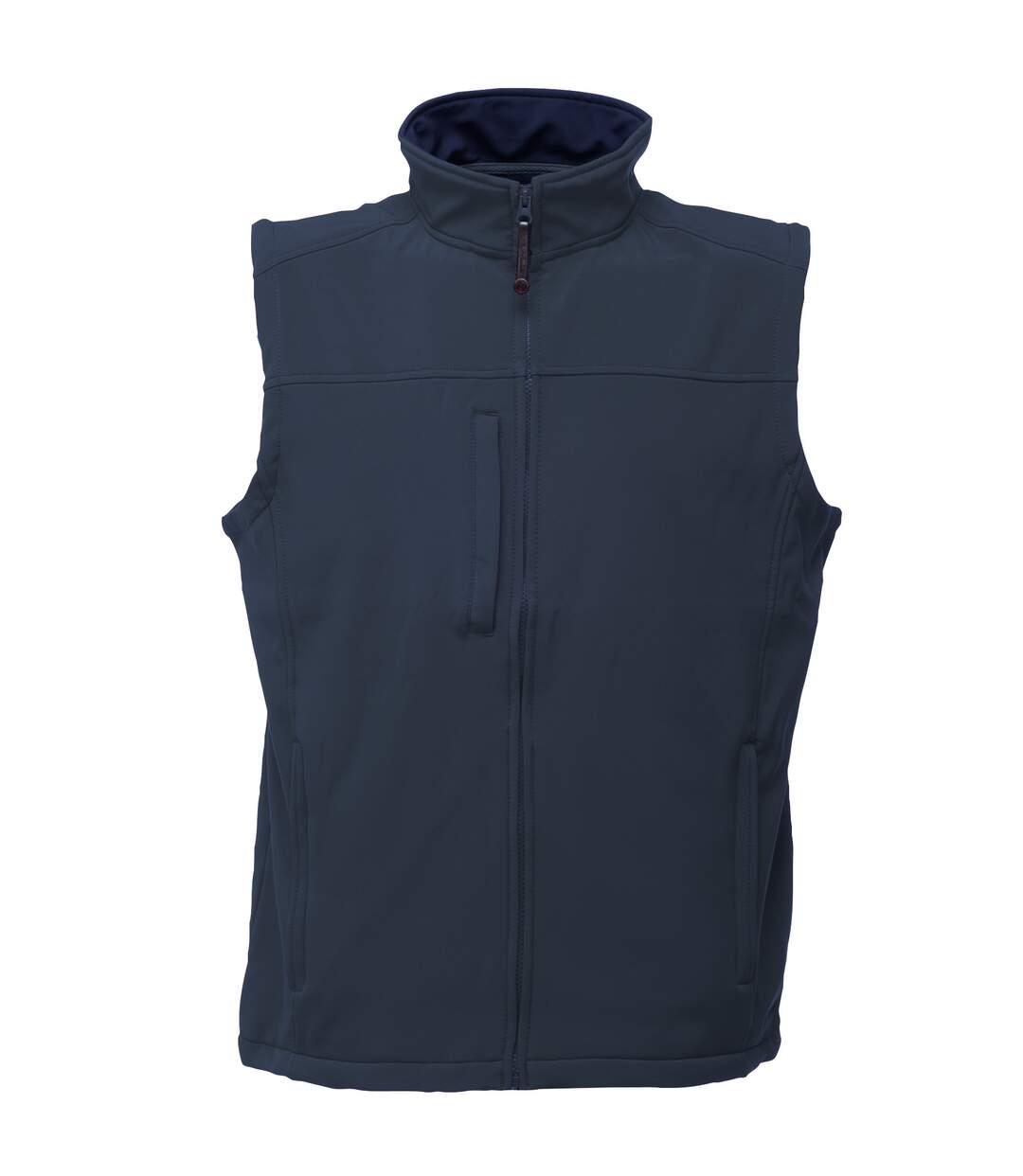 Regatta Mens Flux Softshell Bodywarmer / Sleeveless Jacket (Water Repellent & Wind Resistant) (Navy/Navy) - UTRW1213