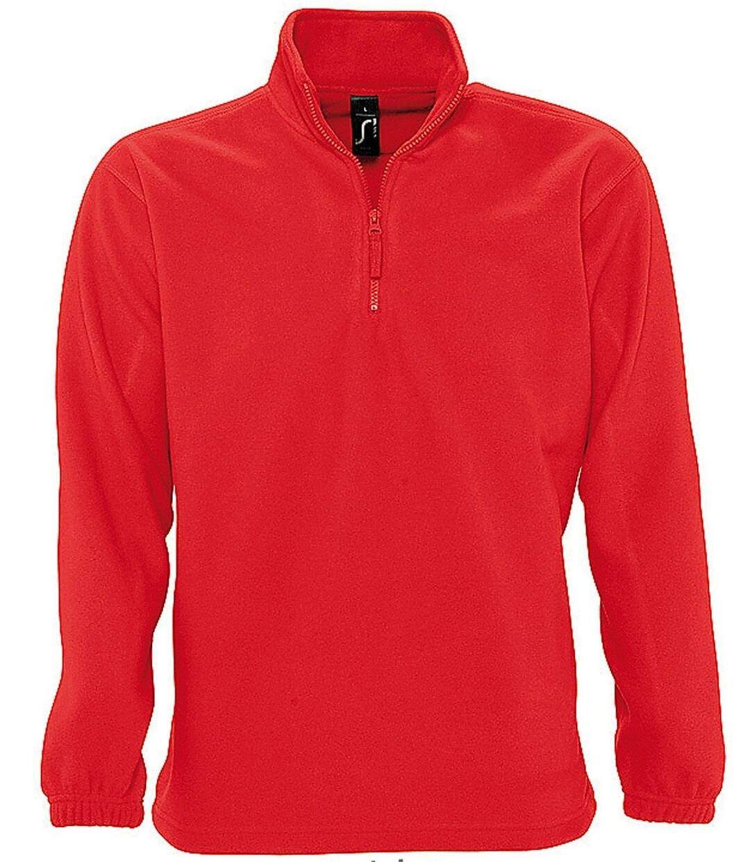Sweat shirt polaire col zippé - 56000 - rouge