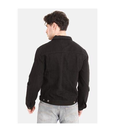 Duke Mens Western Trucker Style Denim Jacket (Black) - UTDC102
