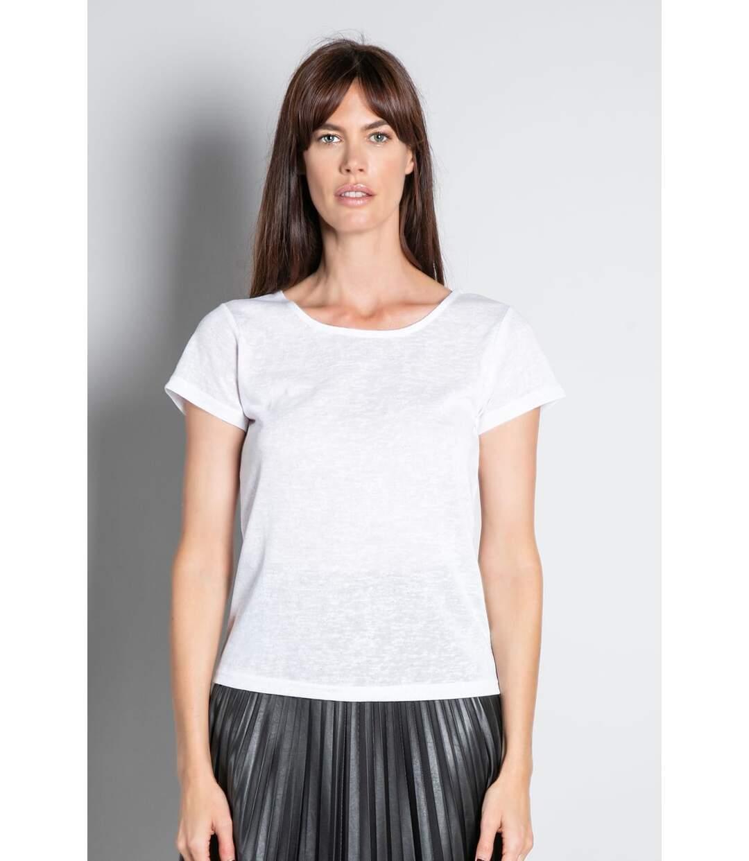 T-shirt en maille pailletée GLITTER Off White
