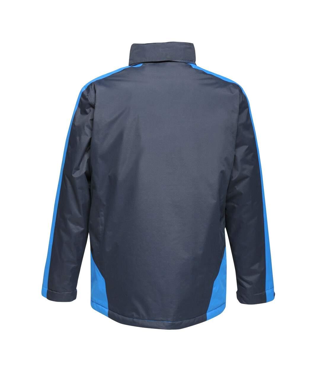 Regatta Mens Contrast Full Zip Jacket (Black Blue/Gentian Blue) - UTRG3743