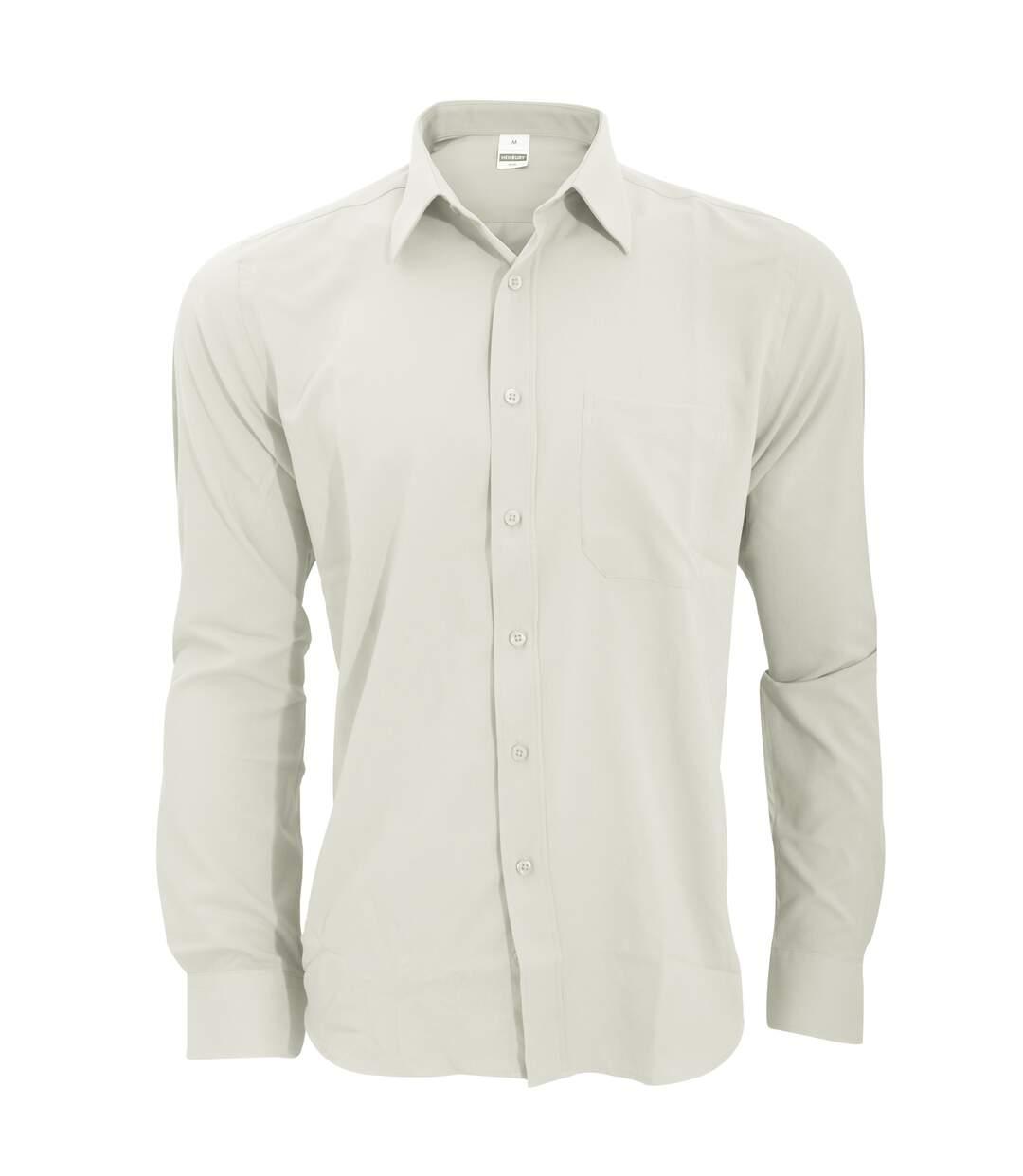 Henbury Mens Wicking Long Sleeve Work Shirt (White) - UTRW2696