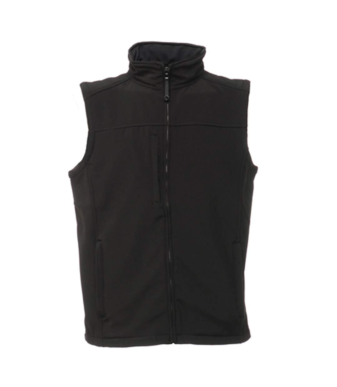 Regatta Mens Flux Softshell Bodywarmer / Sleeveless Jacket Water Repellent And Wind Resistant (All Black) - UTRG1493