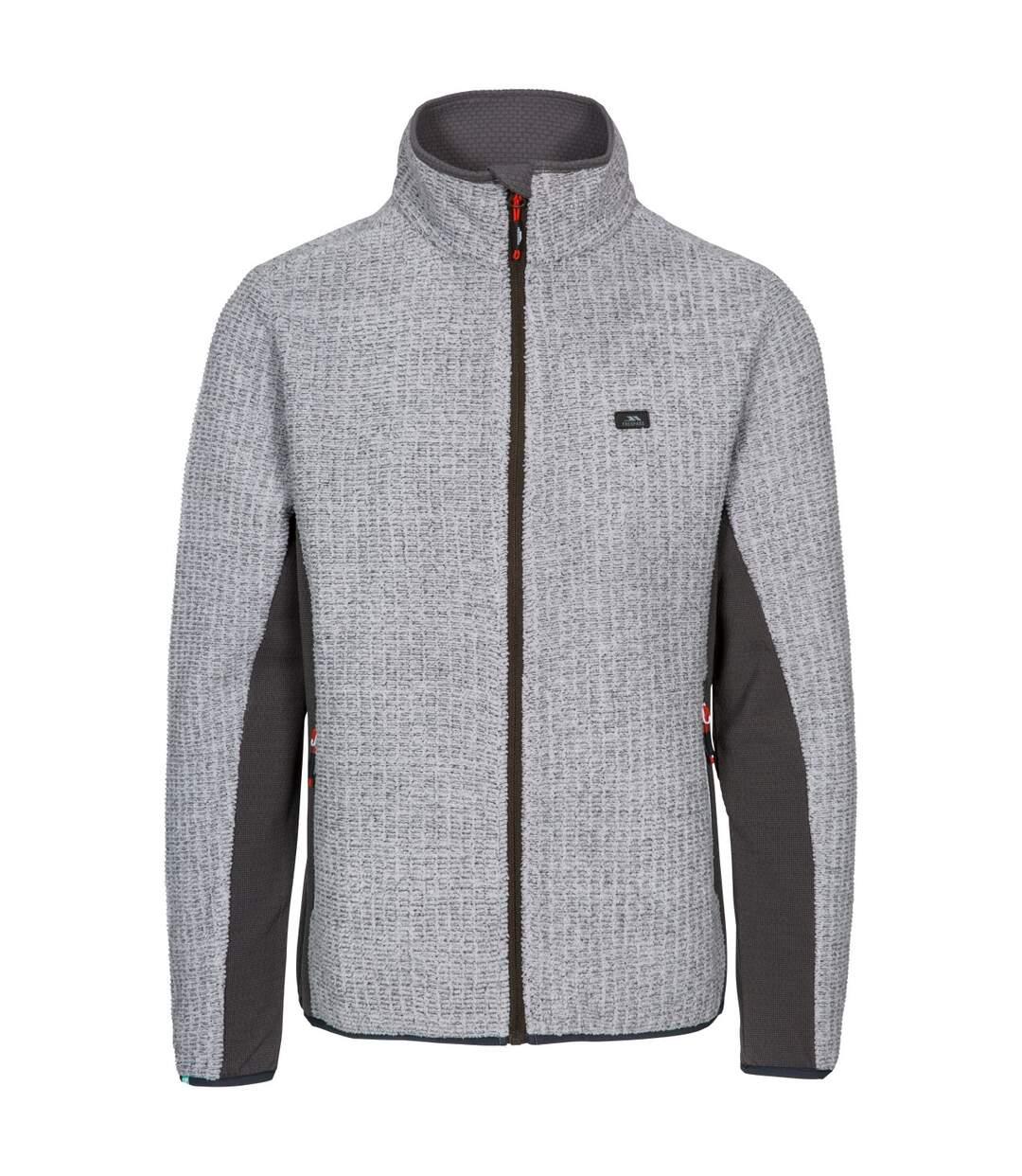 Trespass Mens Templetonpeck Fleece Jacket (Platinum) - UTTP4446