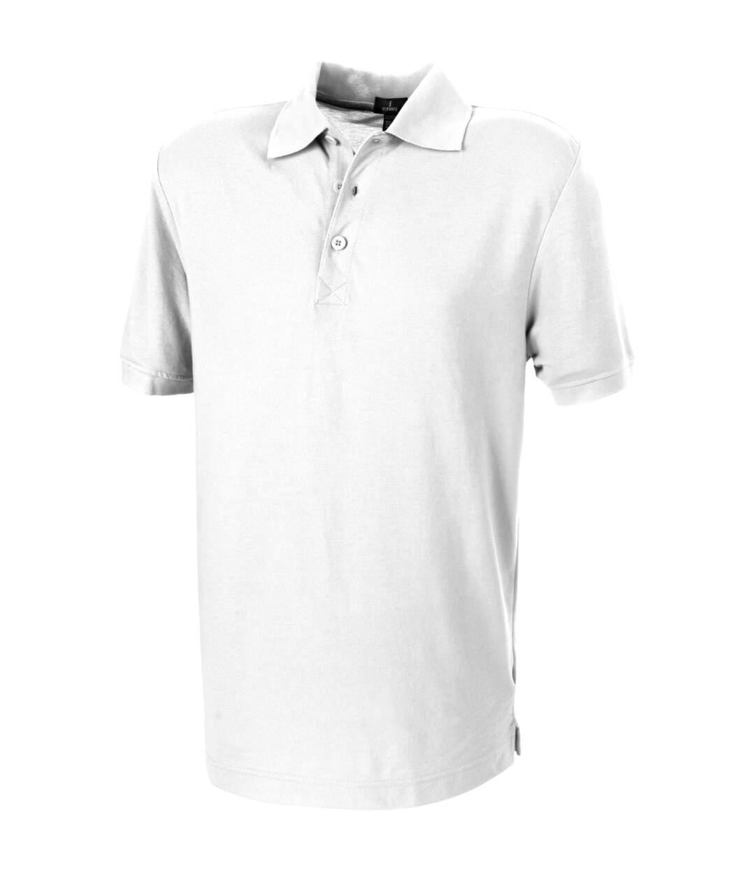 Elevate Crandall Short Sleeve Polo (White) - UTPF1831