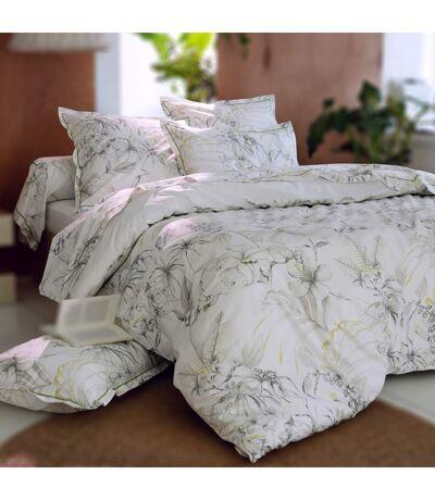 Housse de couette 200x200 cm Percale 100% coton BORNEO blanc