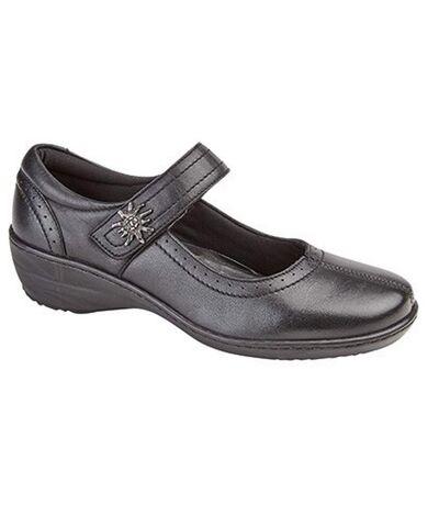 Mod Comfys - Chaussures en cuir - Femme (Noir) - UTDF1377