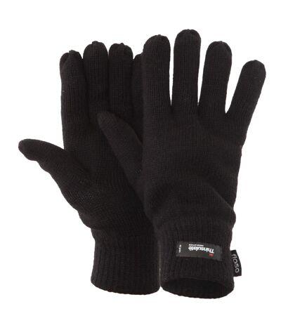 FLOSO - Gants d'hiver thermiques Thinsulate (3M 40g) - Homme (Noir) - UTGL184