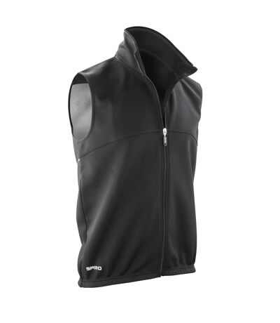 Spiro Mens Airflow Sports Training Gilet / Bodywarmer (Black/ Black) - UTRW2863