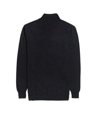 Brook Taverner Mens Dallas Zip-Neck Sweater (Black) - UTPC3994