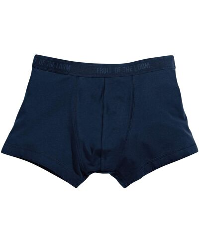 Fruit Of The Loom Mens Classic Shorty Cotton Rich Boxer Shorts (Pack Of 2) (Deep Navy) - UTBC3357
