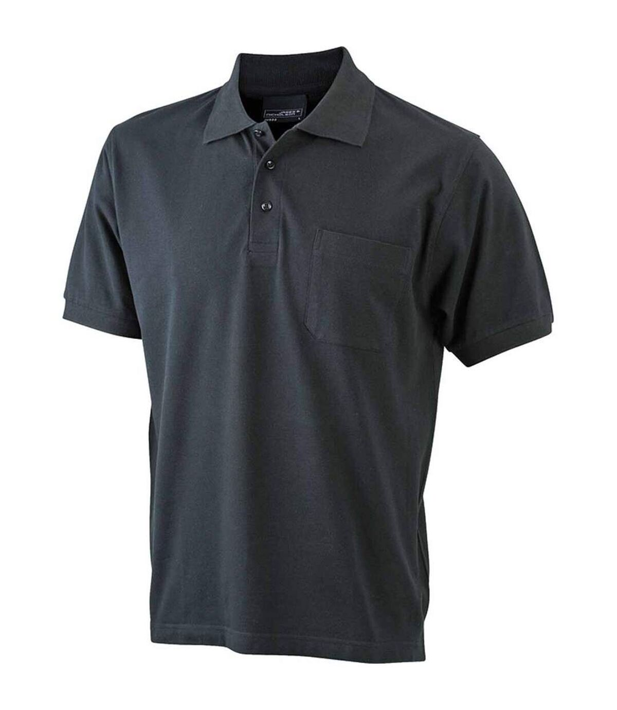 Polo manches courtes poche poitrine HOMME JN922 - noir