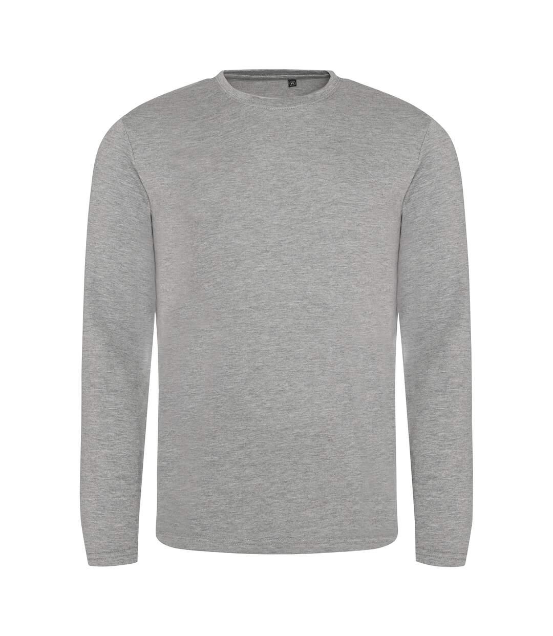 AWDis Mens Long Sleeve Tri-Blend T-Shirt (Heather Grey) - UTPC2975