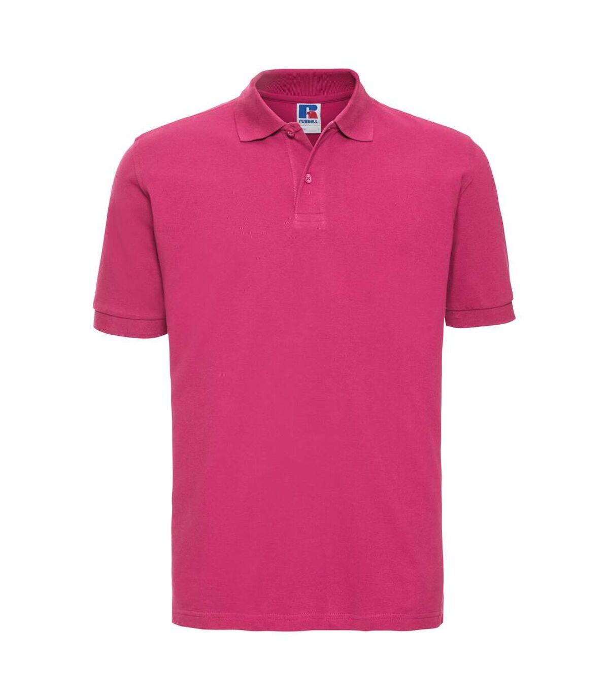 Russell Mens 100% Cotton Short Sleeve Polo Shirt (Fuchsia) - UTBC567