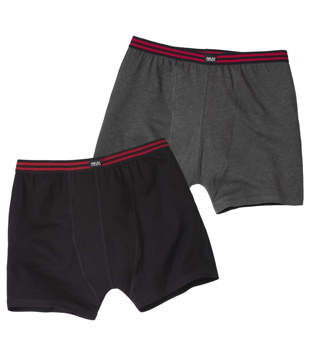 2 darabos, sztreccs boxer alsónadrág szett Atlas For Men