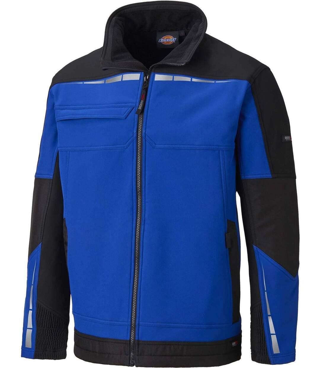 Veste softshell de travail - DDP1001 - bleu roi et noir
