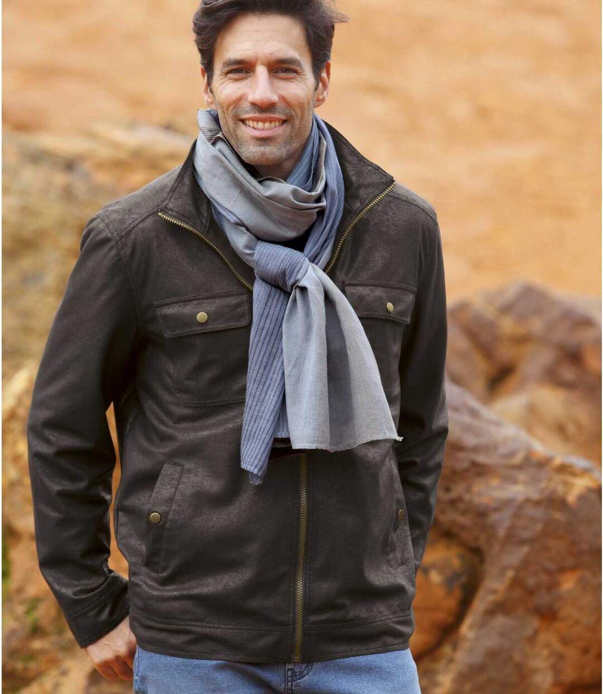 Štýlová bunda s platinovým efektom Atlas For Men