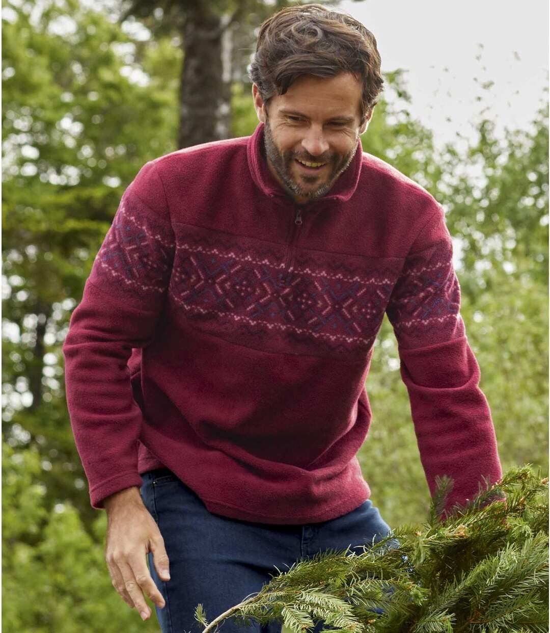 Polarowy, żakardowy sweter Oslo