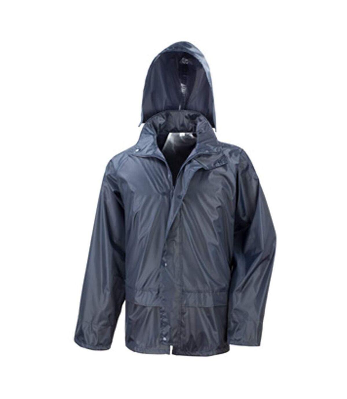 Result Mens Core Rain Suit (Trousers And Jacket Set) (Black) - UTBC916