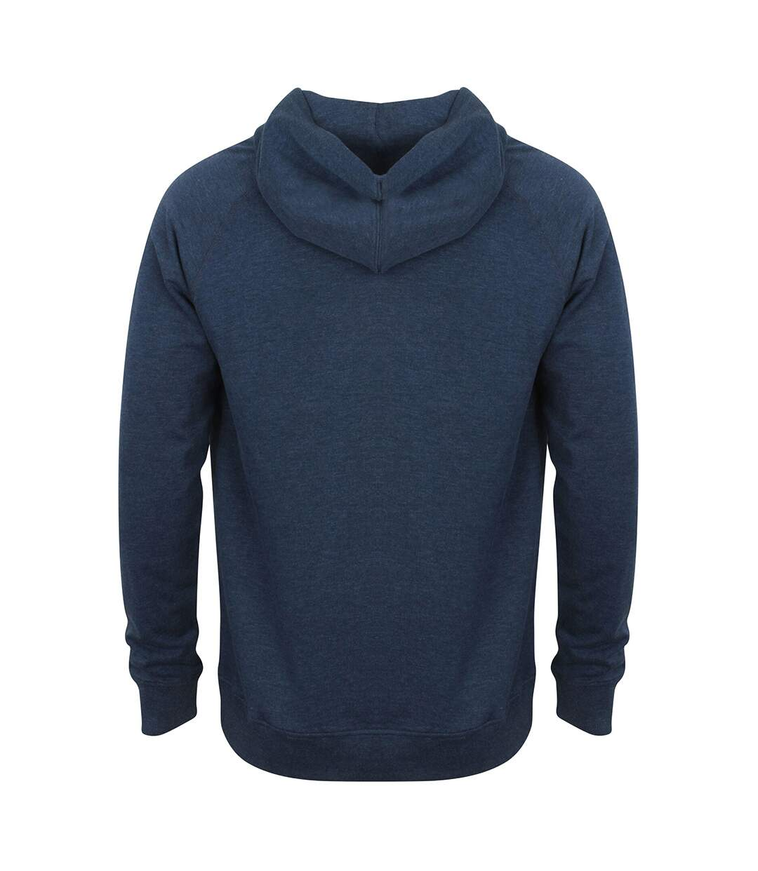 Front Row Mens Slim Fit French Terry Hoodie (Navy Marl) - UTRW5394
