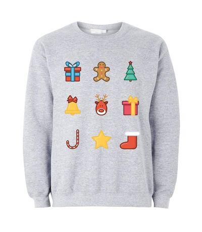 The T-Shirt Factory - Sweat-shirts 'Emojis' - Homme (Gris) - UTTF188