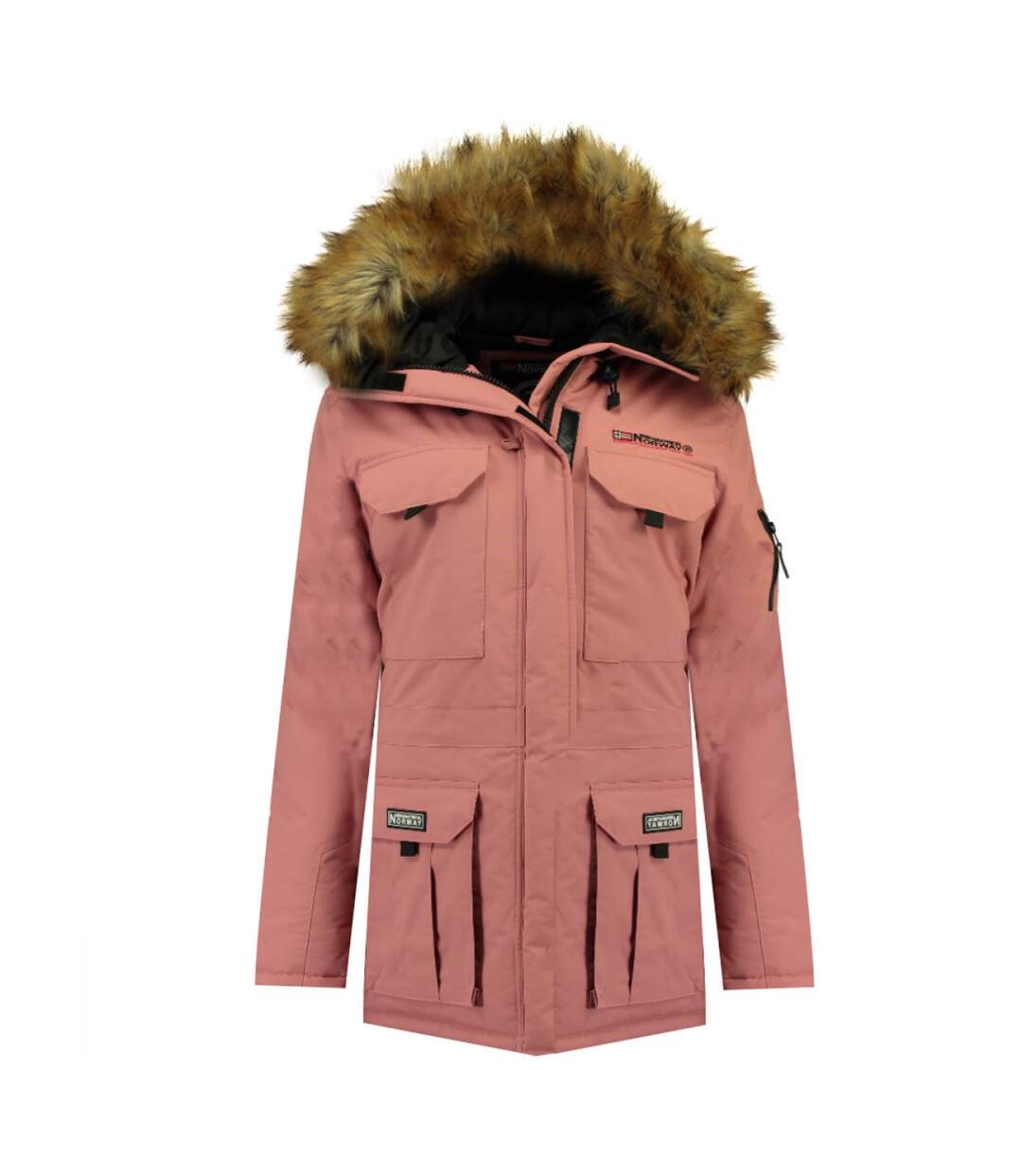 Parka Rose pâle femme Geographical Norway Alpes