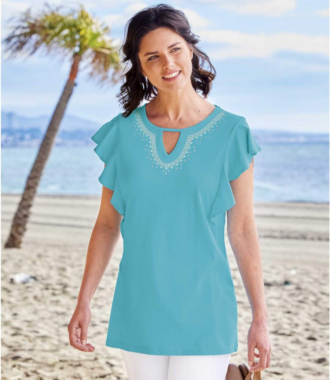 Women's Turquoise T-Shirt Atlas For Men