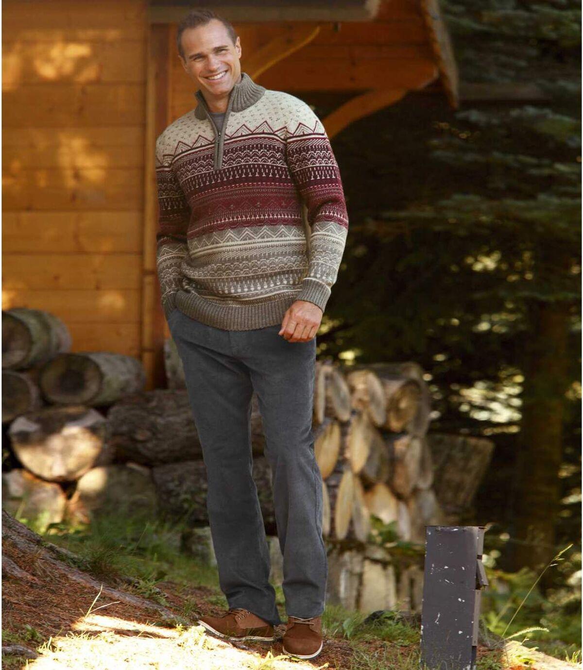 Manšestrové kalhoty Komfort Atlas For Men