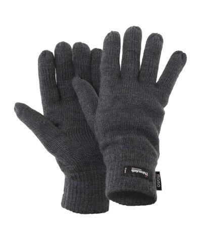 FLOSO - Gants d'hiver thermiques Thinsulate (3M 40g) - Homme (Gris) - UTGL184