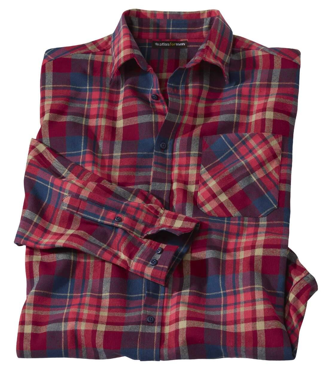 Dřevorubecká košile zkostkovaného flanelu Atlas For Men