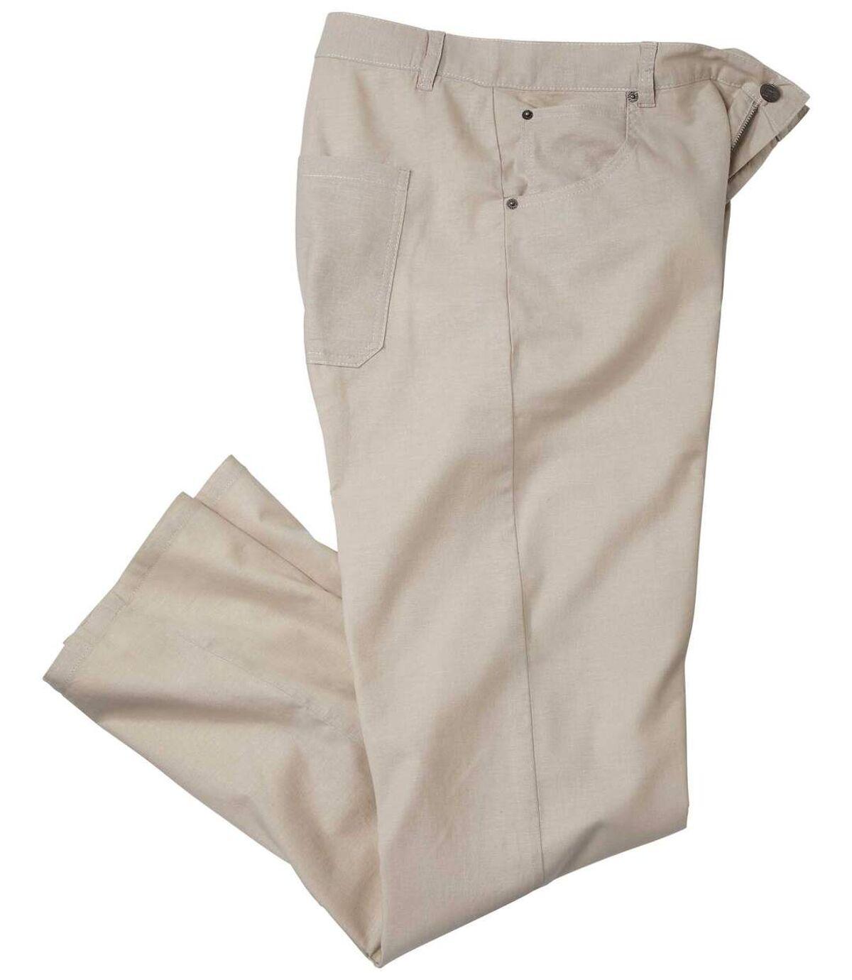 Stretch-Hose aus Baumwoll-Leinen-Mischung Atlas For Men