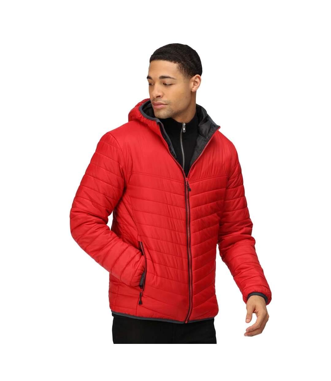 Regatta Mens Acadia II Hooded Jacket (Luminous Red/Jet Black) - UTRG3745
