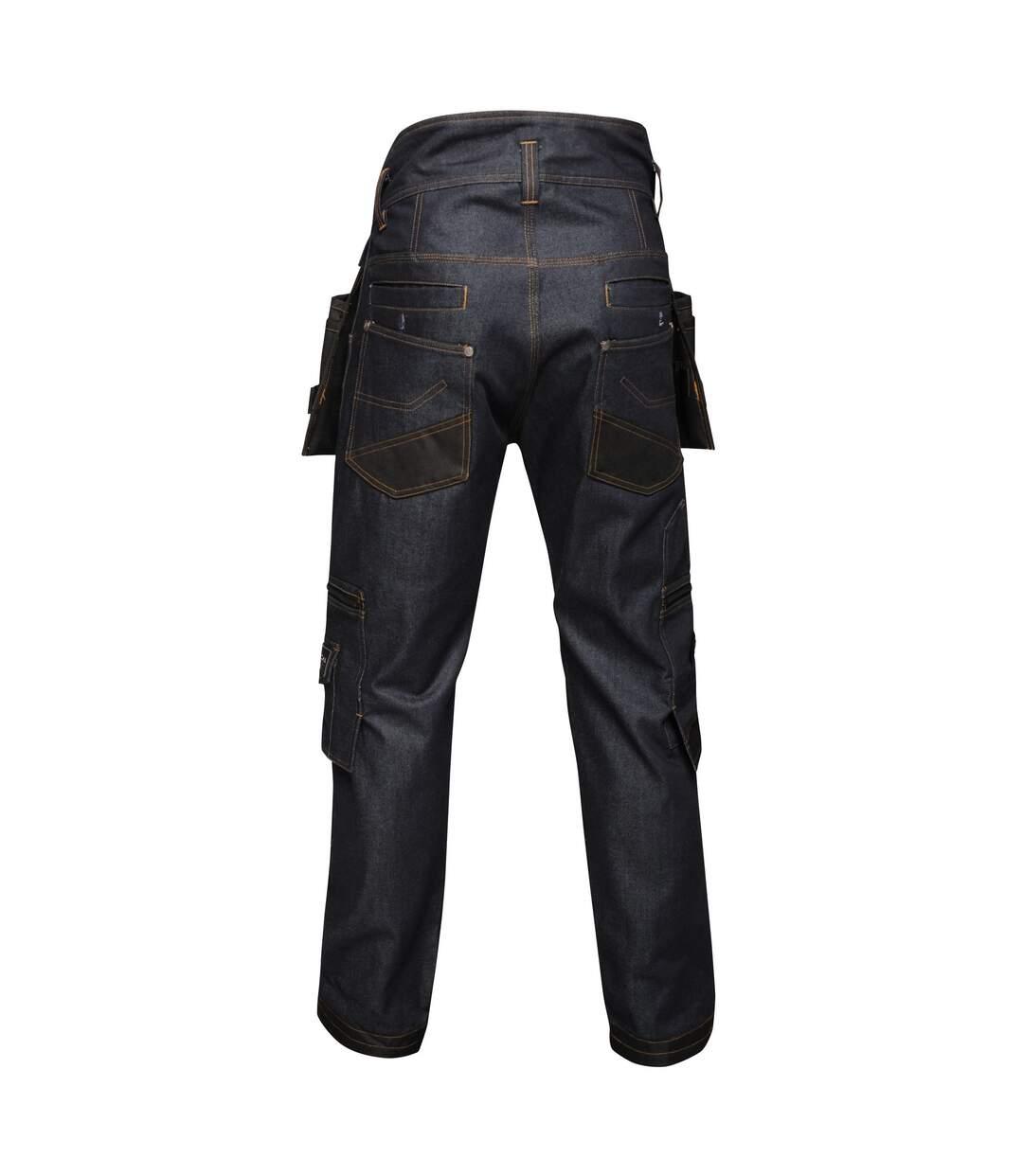Regatta Mens Deductive Denim Trousers (Dark Denim) - UTRG3808