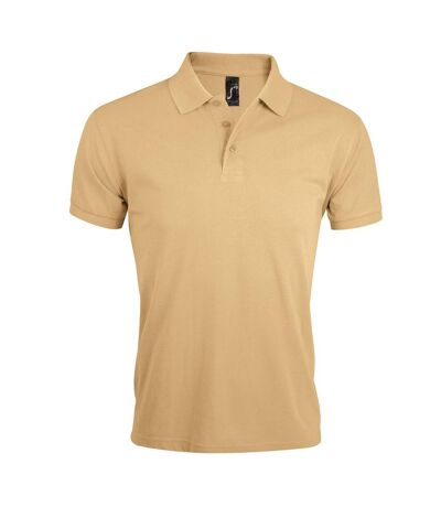 SOLs Mens Prime Pique Plain Short Sleeve Polo Shirt (Sand) - UTPC493