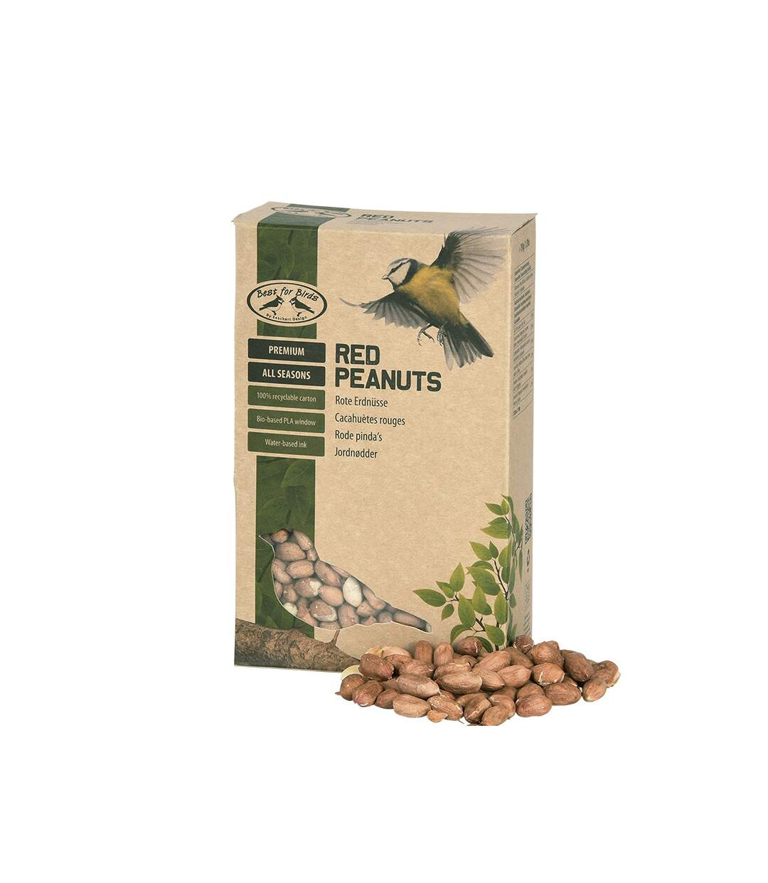 Cacahuètes décortiquées rouges pour oiseaux