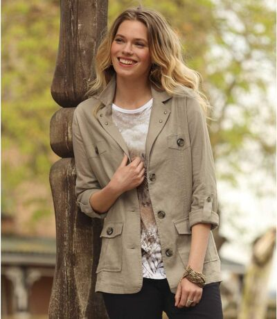 Women's Beige Summer Jacket