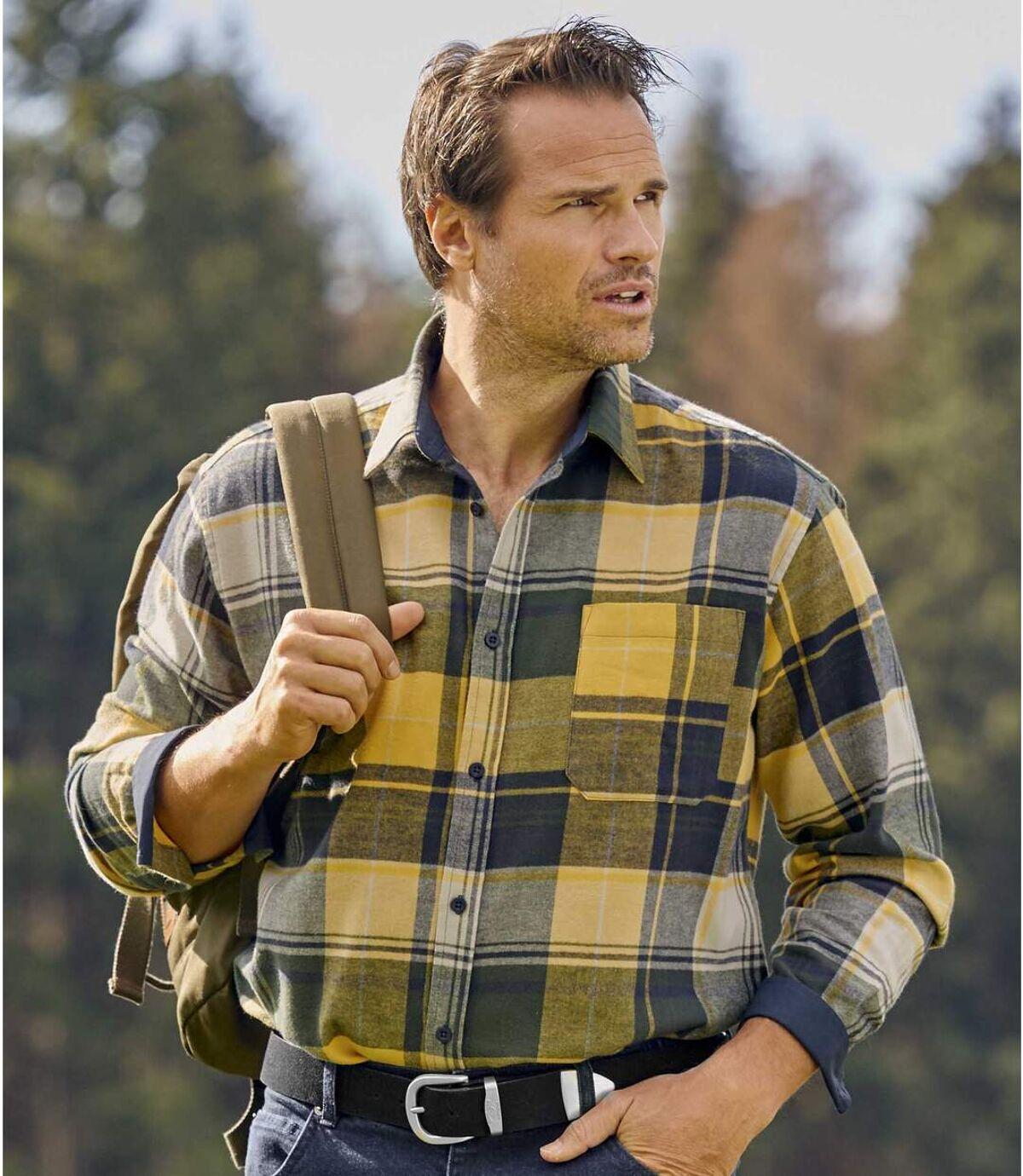 Country overhemd van flanel Atlas For Men