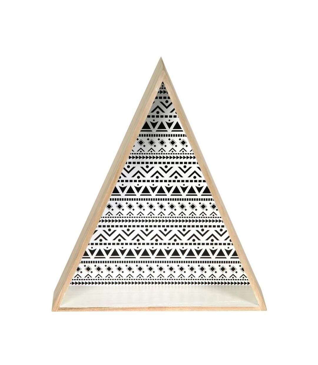 Etagère en triangle en bois Happy Life (Lot de 2)