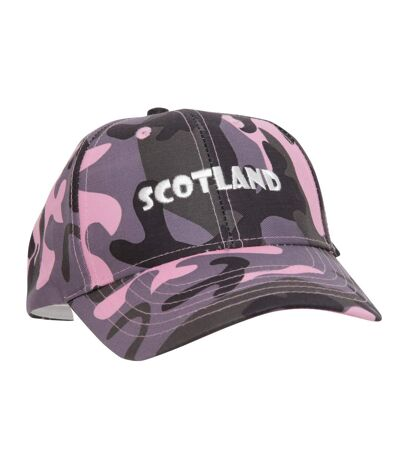 Casquette de baseball Scotland à motif camouflage - Femme (Camouflage rose) - UTC155